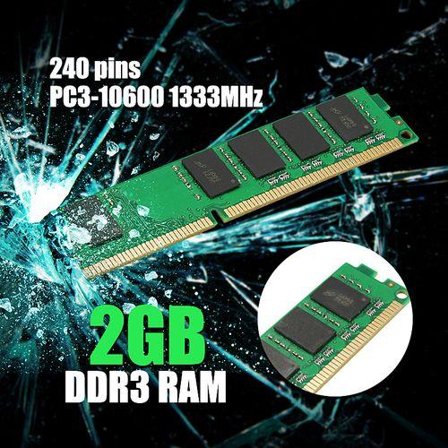 Memory Ram Desktop PC DDR3 PC3 10600 U 1333 MHz 240 Pin Non ECC 4 All CPUs