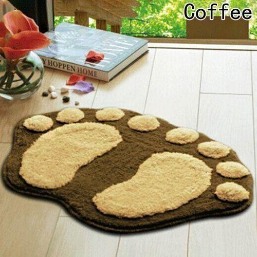 Cute Footprints Big Feet Bathroom Carpet