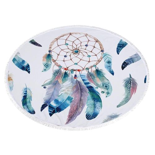 150 X 150cm Round Mat Art Beach Towel Carpet Tapestry With Tassels For Picnic Outdoor Indoor