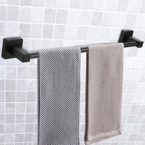 2019 Shelves 60cm Stainless Steel Wall Mounted Towels Storage Shelf Rack Hanging Rail Bathroom Kitchen Bathroom Organizer