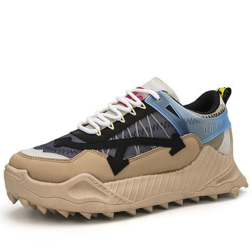 Men's Sports Shoes Running Shoes-Khaki