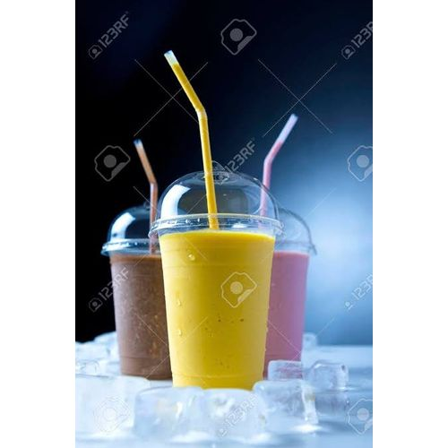 50 Plastics Smoothie Cup With Lid & 100pcs Of Straw