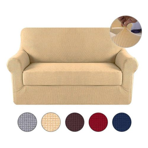 Sofa Slipcover Strapless Solid Print Stretch Chair Coverslip