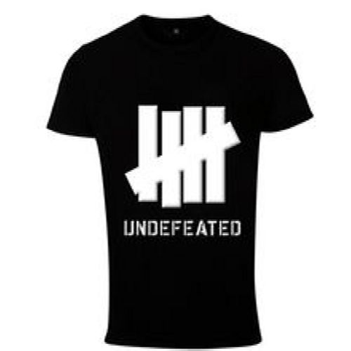 Print Undefeated Men T Shirt Black