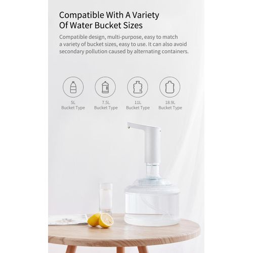 XIAOMI Rechargeable USB Touch Switch Water Pump Wireless Electric Dispenser