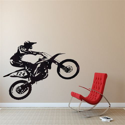 Motorcycle Racer Wall Sticker For Boy Kids Room Bedroom Study Personality Decoration Wallpaper Stickers Decals Home Decoration