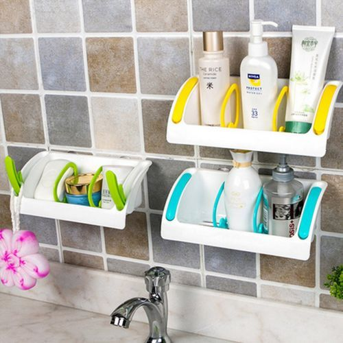 Freebang Strong Suction Cup Kitchen Brush Sponge Sink Draining Towel Rack Washing Holder