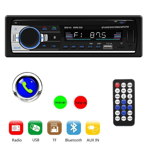 Car MP3 Player Bluetooth Handsfree MP3 Card Radio