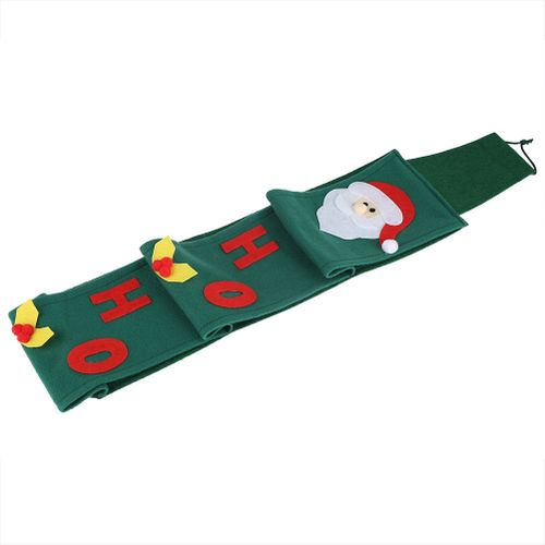 Santa Claus Towel Set Covers Christmas Holiday Party Paper Bags Green Cute Towel