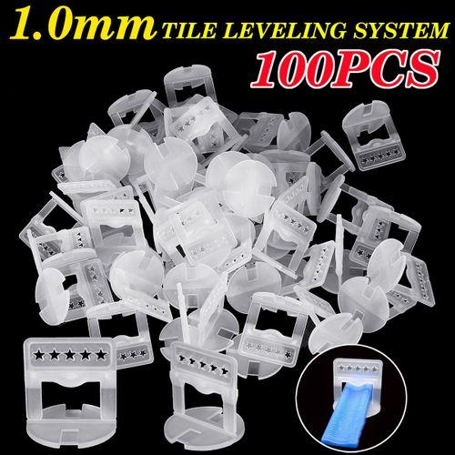 100Pcs 1.0mm Plastic Tile Leveling System Clips Kit