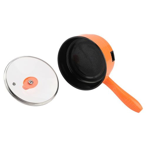 Deepen Mini Electric Frying Pan Multi-function Electric Cooking Pot Orange Kitchen Cooker