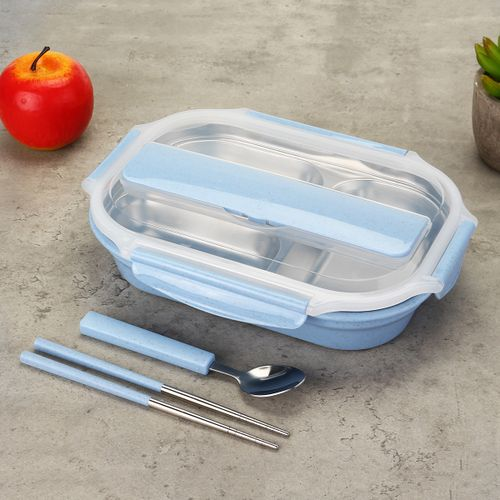 Portable Stainless Steel Insulated Lunch Bento Food Container Thermal Box Case