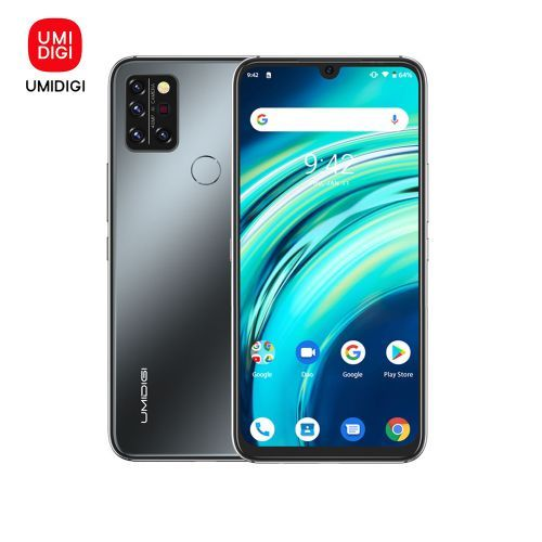 A9 Pro Infrared Temperature Sensor (32MP+16MP+5MP+5MP) +24MP 6.3-Inch (4GB,64GB ROM) Android 10 Smartphone-Onyx Black