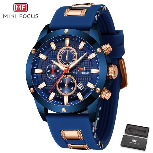 Top Luxury Brand Watch Fashion Sports Men Quartz Watches Wristwatch For Male Blue