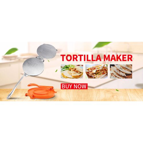 20cm Terra Fiesta Tortilla/Naan Bread Dough Press Heavy Duty