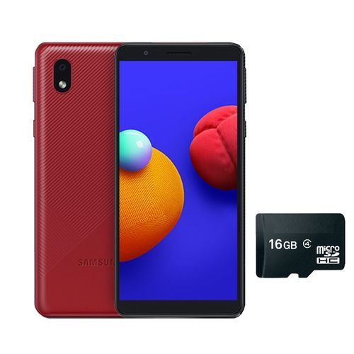 "GALAXY A3 CORE -5.3"" -16GB ROM/1GB RAM -8MP/5MP CAMERA -3000MAH -4G WITH FREE 16GB MEMORY CARD- RED"