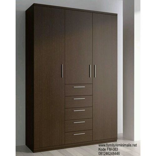3-Door 6-Drawer Wardrobe - 6ft (Delievery Within Lagos & Prepaid Only)