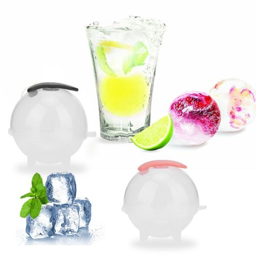 Fdit 4 Pcs Transparent New Ice Sphere Ice Cream Makers Mold As Silicone Ice Tray Tool DIY