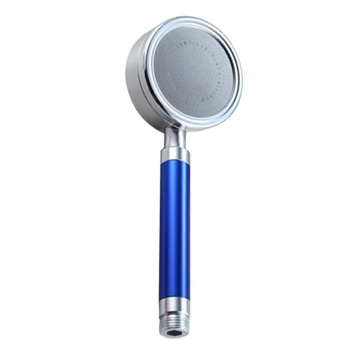 Space Aluminum Hand Shower Bathroom Booster Water Saving Nozzle Hand Held Blue