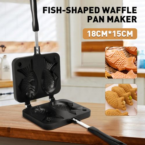 Non-stick Taiyaki Fish-shaped Cake Pan Waffle Maker Bread Home Food