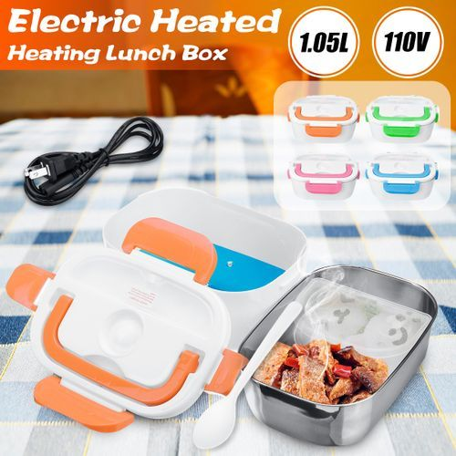 Stainless Steel Portable Electric Heated Lunch Box Blue