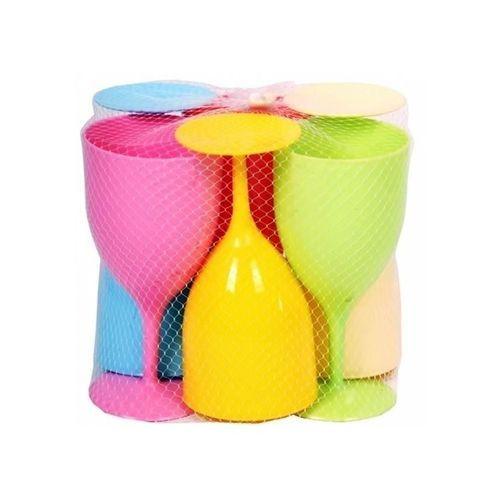Plastic Wine Cups Set - 6 Pieces