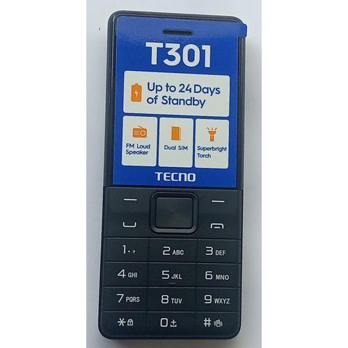 T301, Dual Sim, & Torch Light, 1150mAH, FM Radio, - Black