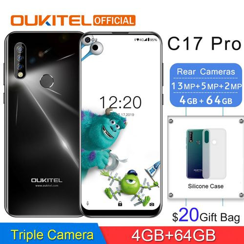 C17 Pro 6.35-inch Android 9.0 With Back Case,(4GB RAM 64GB ROM)Cortex A53 2.0GHz Triple Rear Cameras 4G Smartphone-BLACK