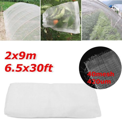 6.5Ft X 30Ft Mosquito Garden Bug Insect Netting Insect Barrier Bird Hunting Net