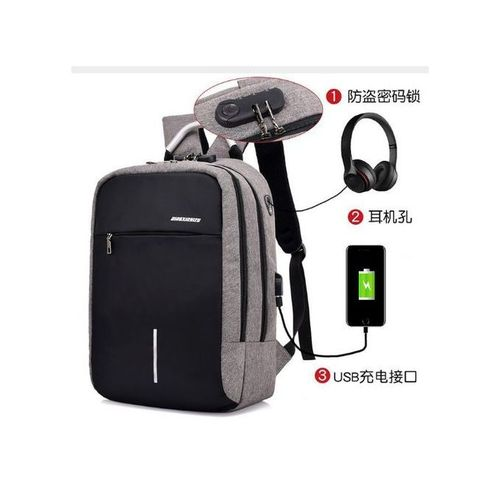 Anti Theft Waterproof Security Travel Backpack & Laptop Bag With USB Charging Port