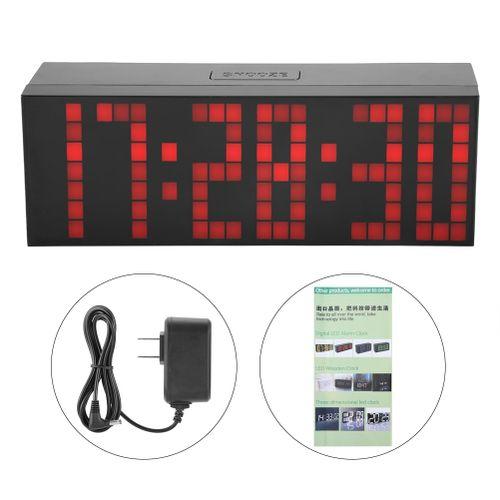 6 Digit Jumbo LED Digital Alarm Calendar Snooze Wall Desk Clock (red, 6-digit Version)