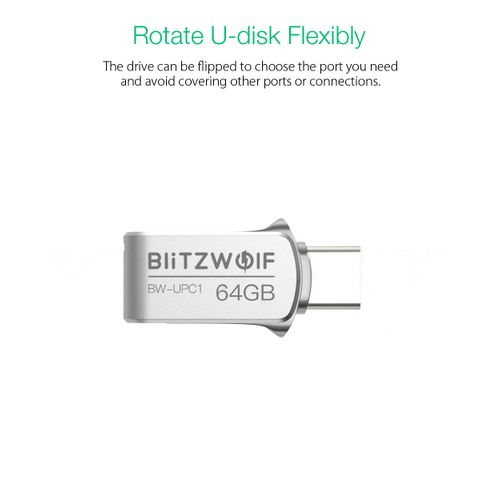 BlitzWolf 2-in-1 Type-C USB 3.0 Aluminium 16GB OTG USB Flash Drive