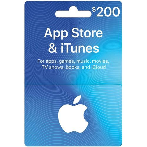 Apple ITunes 200 USD Apple Store Credit / Prepaid Card