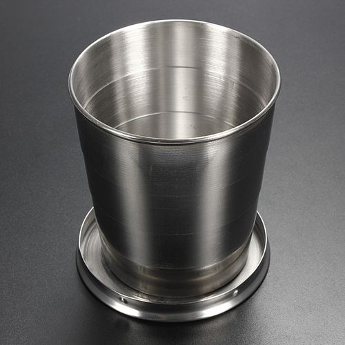 240ml Portable Outdoor Travel Stainless Steel Folding Collapsible Cup Telescopic