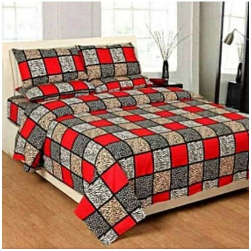 New Design Bed-sheet With Pillow Cases - Multi