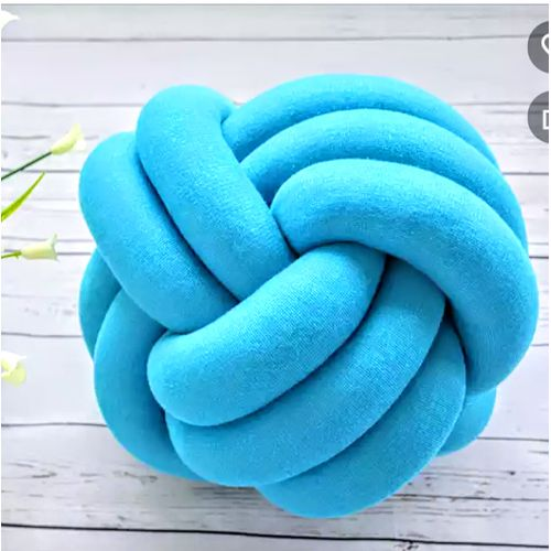 Turquoise Knotted Pillow.
