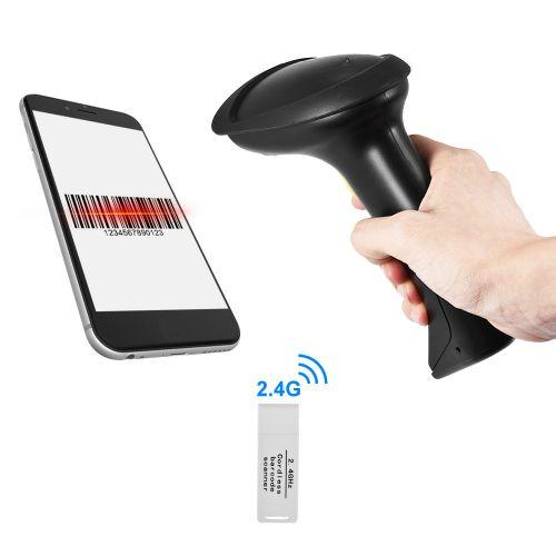 Wireless 2.4GHz 1D Barcode Scanner CCD Bar Code Reader