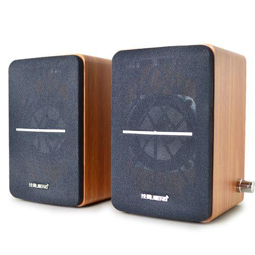 PC&laptop Multimedia Subwoofer Wooden Speaker 2.0USB
