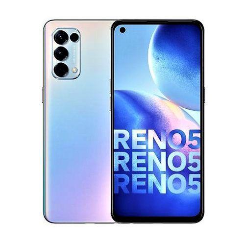 Reno5, 6.43'' 8GB RAM 128GB ROM Android 11 (64MP + 8MP + 2MP + 2MP) + 44MP Dual SIM - Fantasy Silver