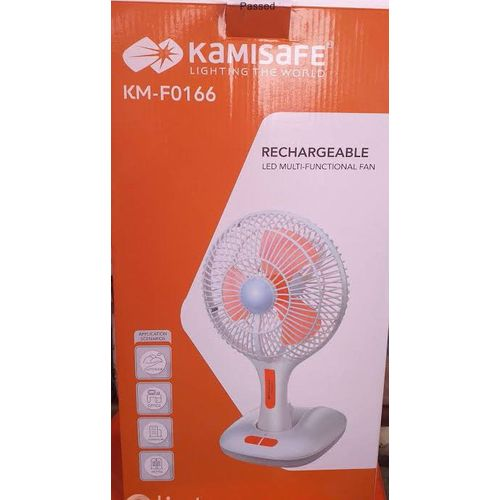 10'' Rechargeable Folding Fan With USB And Led Light