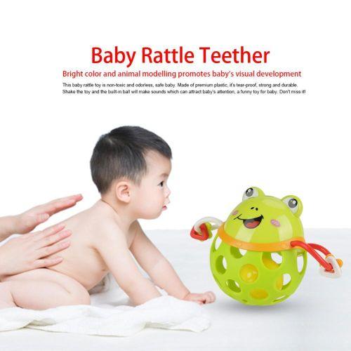 Infant Baby Soft Teether Rattle Toy Children Educational Cute Cartoon Animal Handbell