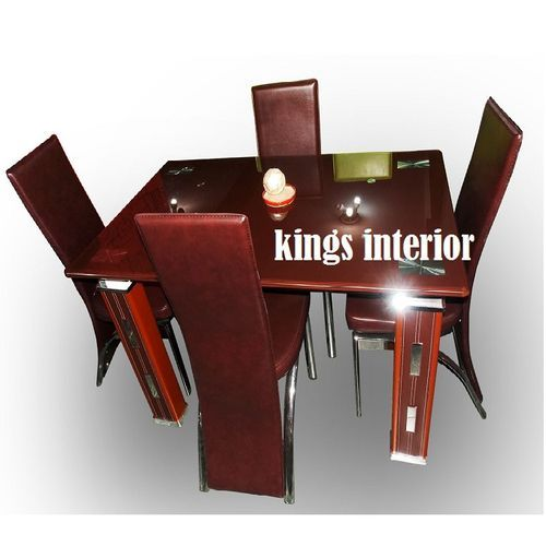 Exclusive Glass Dinning With 4 Chairs