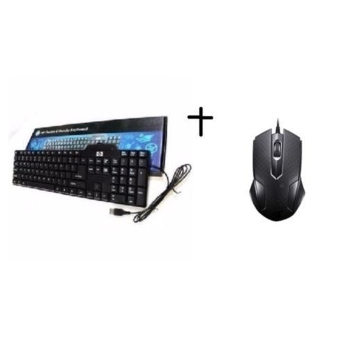 Wired USB Keyboard With Free Optical Mouse