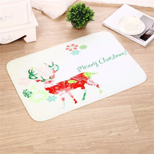 Christmas Welcome Doormats Indoor Home Carpets Decor-White