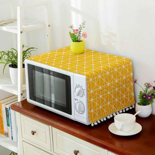 Microwave Dust Proof Cover Oven Hood Home Decor Towel