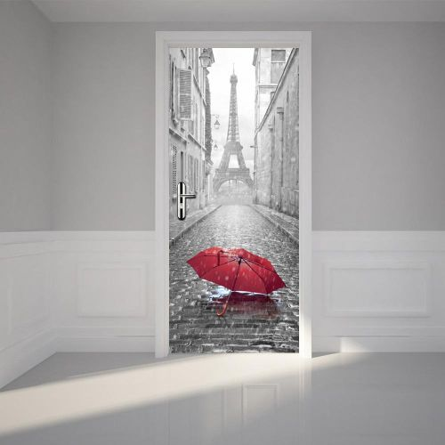 3 Styles 200X77CM 3D Stairs Sticker PVC Self Adhesive Eiffel Tower Door Wall Sticker Living Room Mural Decor