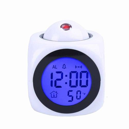Electronic Alarm Clock With Thermometer Snooze Function