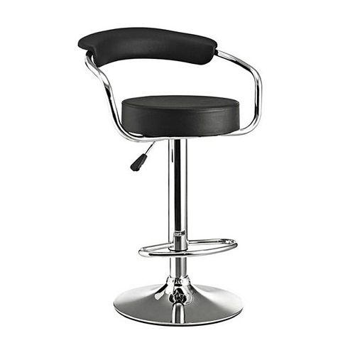 Universal Chrome Bar Stool Office Chair- BLACK