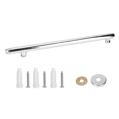 G1/2in Wall Mounted Shower Arm Bathroom Shower Head Hose Extension Pipe Rod Bar