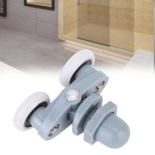 4pcs Durable Double Sliding Roller Track Door Wheel Bathroom Glass Door